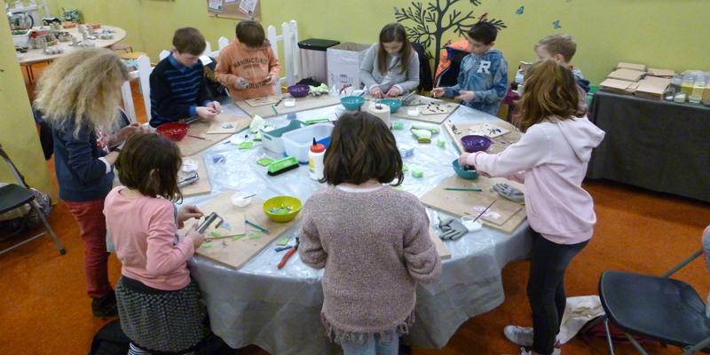 atelier mosaique enfant anniversaire à domicile 3