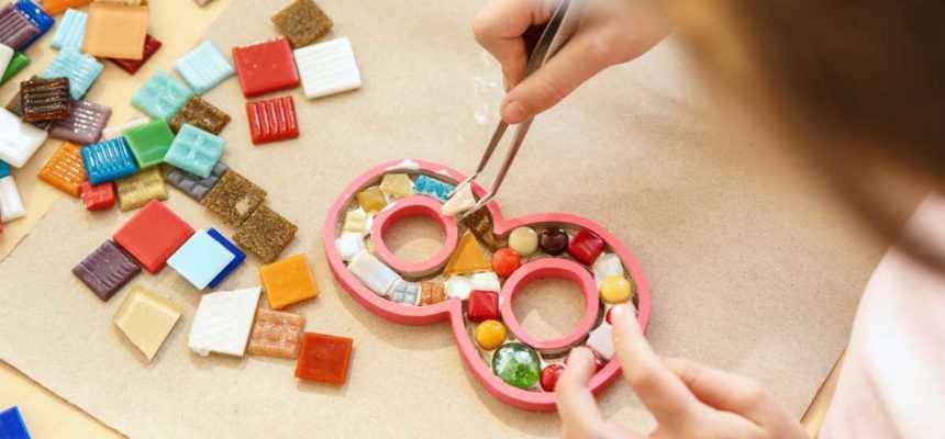 atelier mosaique enfant à domicile