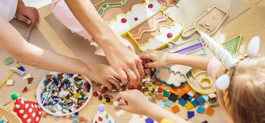 atelier mosaique enfant anniversaire à domicile